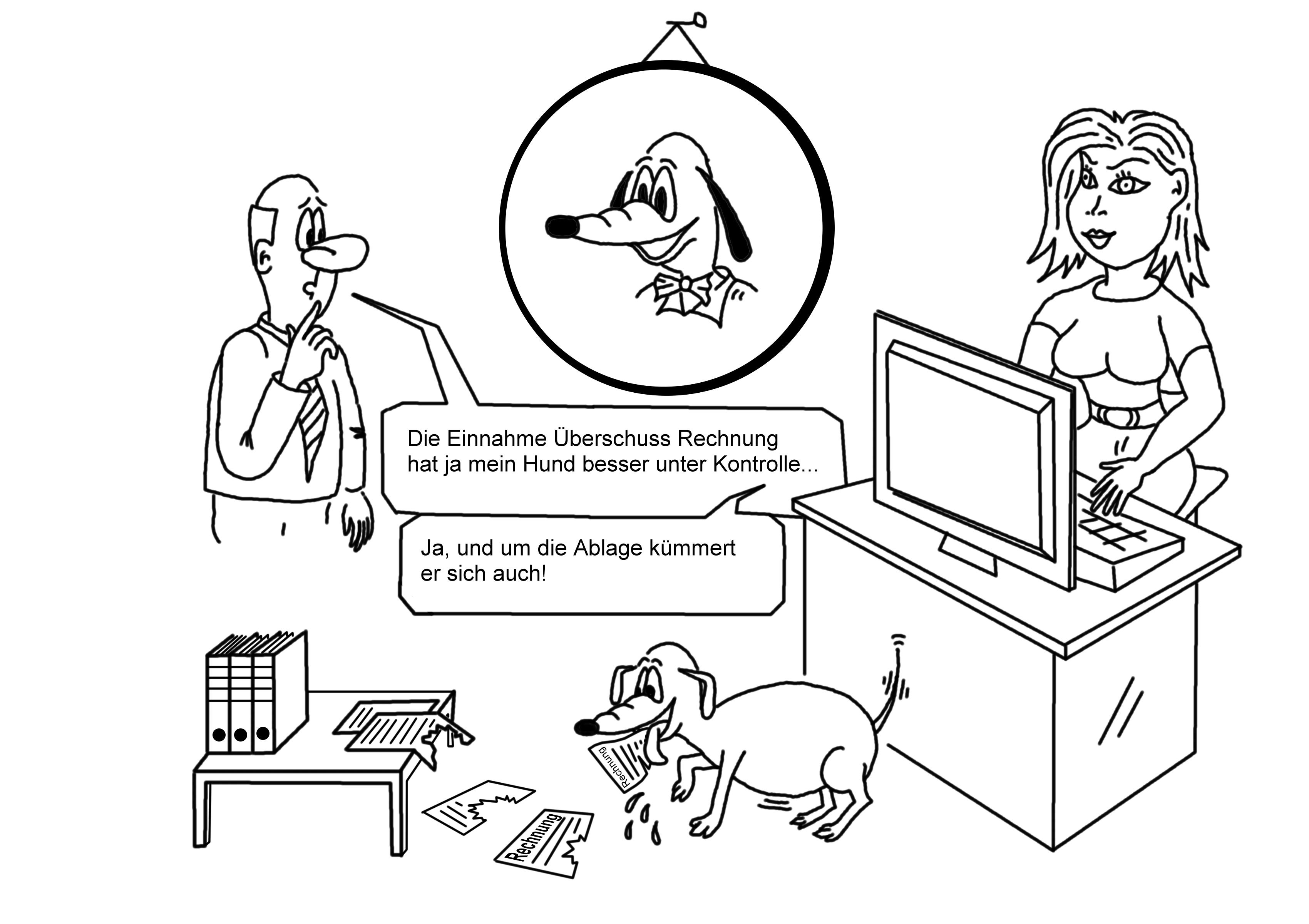 Buchhalter - Karikaturen