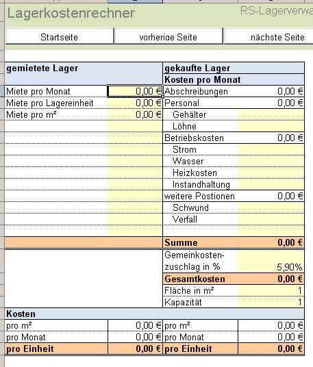excel tool rs lagerverwaltung