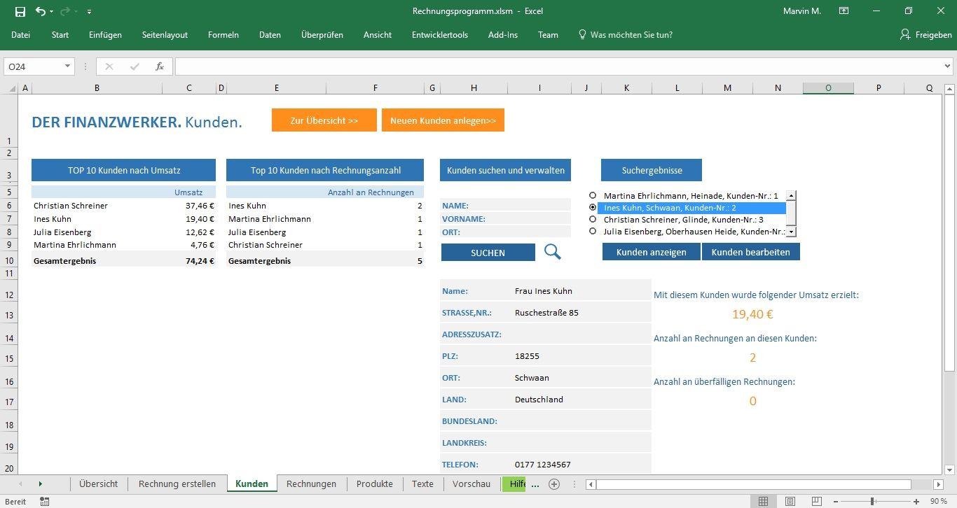 Excel Vorlage Für Rechnungen Und Angebote