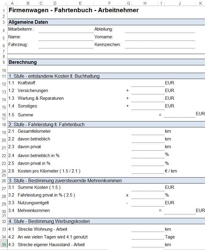 Reisekostenabrechnung Vorlage Download Excel Und Pdf 3