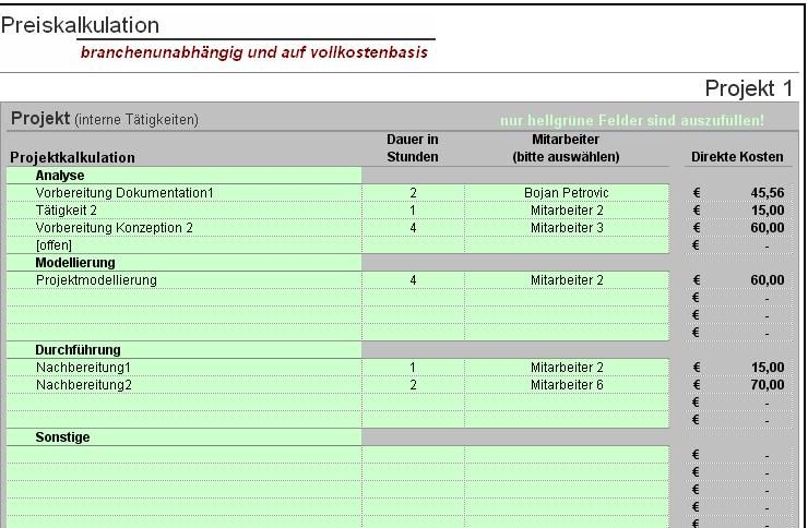 Preiskalkulation Preise Klug Kalkulieren Excel Tool