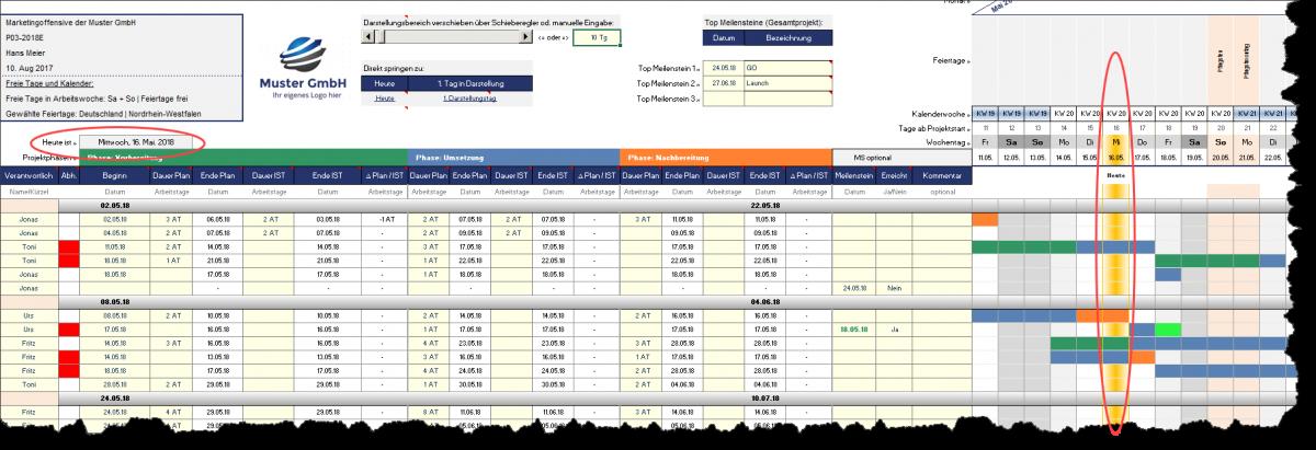 Niedlich Excel Statusberichtvorlage Zeitgenössisch - Entry Level ...