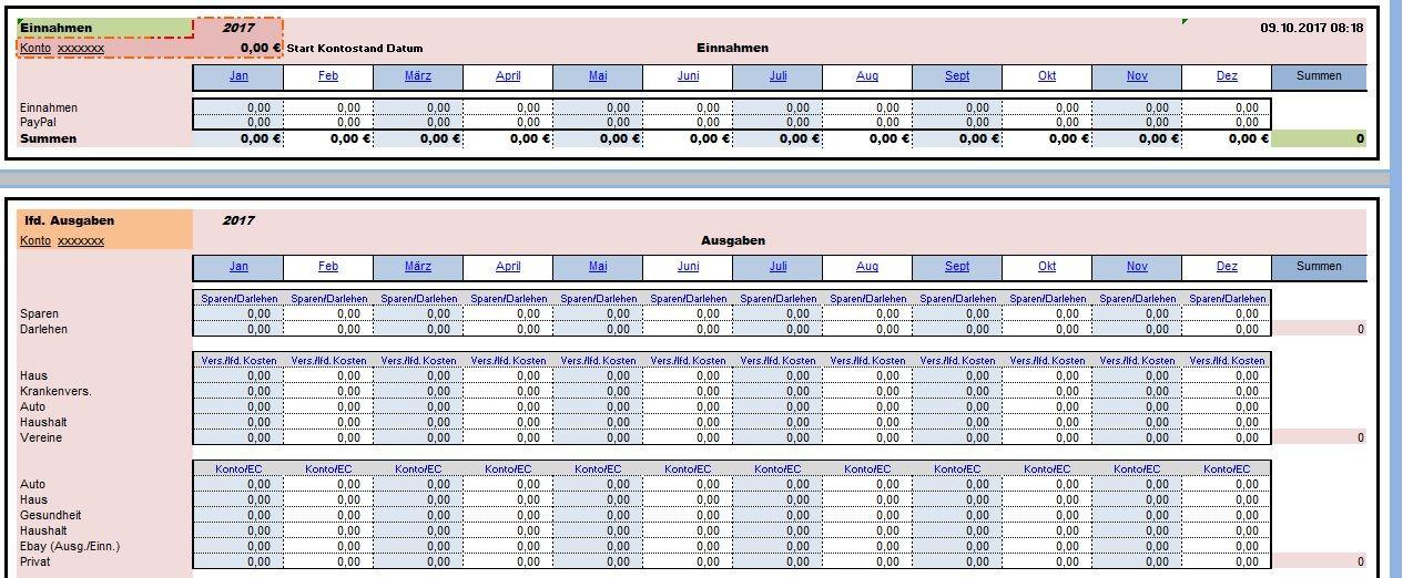 Fantastisch Die Monatlichen Anwesenheitsblattvorlage Excel Bilder ...