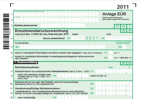 Eür 2011 Amtliches Formular