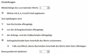 Screenshot Einstellungen